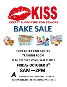 Bake Sale Flyer october 3rd